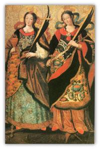 «Святая мученица Екатерина       и святая мученица Варвара»       середина XVIII века.