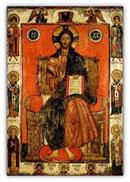 «Спас на престоле с избранными святыми», Вторая половина XIII – начало XIV века