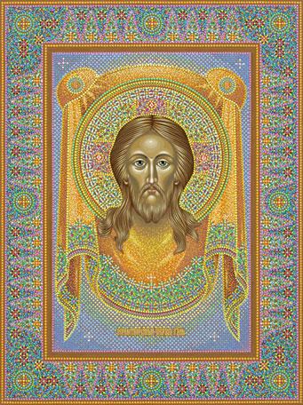 Икона Спас Нерукотворный, иконописец Юрий Кузнецов